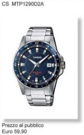 Casio time orologio uomo CS MTP1290D2A