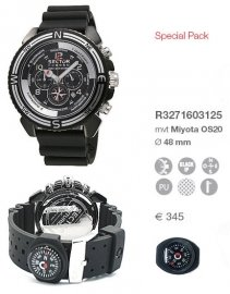 Orologio Sector uomo MOUNTAIN CENTURION COMPASS CHRONO BLACK SPECIAL PACKAGING R3271603125
