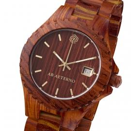 Orologio in legno di sandalo rosso Rocky - Collezione Nature
