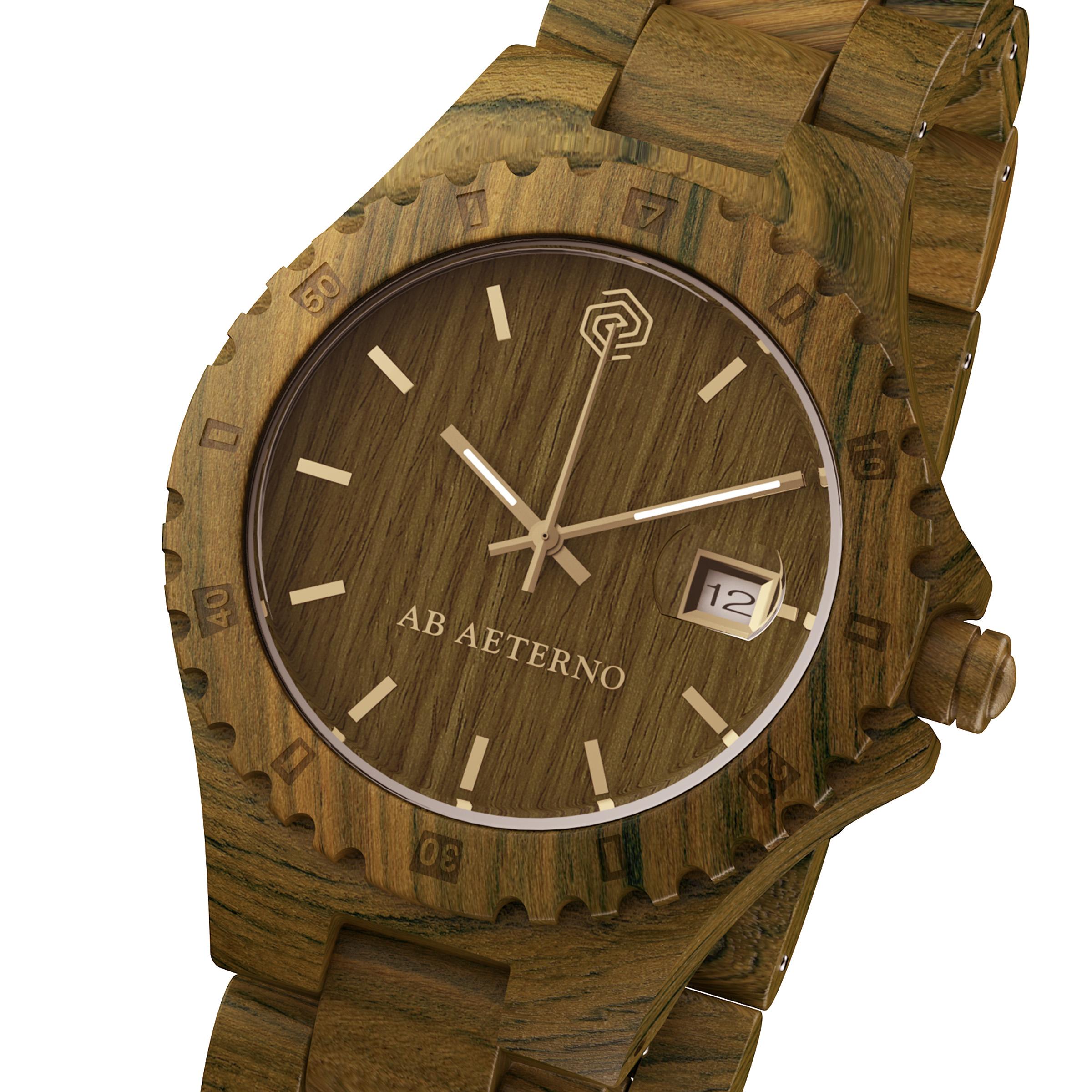Orologio in legno di sandalo verde envy collezione nature for Orologio legno amazon